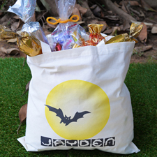 Bat Personalized Halloween Trick Or Treat Bag