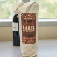 Custom Imprint Full Color Wine Cotton Bag
