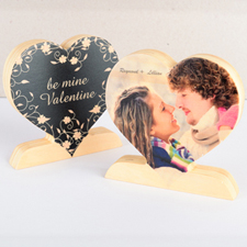 Be Mine Valentine Wooden Photo Heart