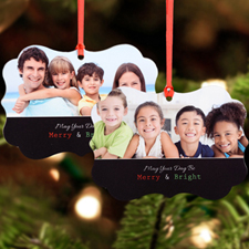Merry And Bright Personalized Metal Ornament