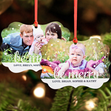 Be Merry Personalized Metal Ornament