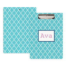 Aqua Clover Personalized Clipboard