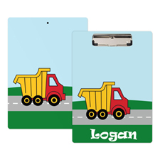 Kids Truck Personalized Clipboard