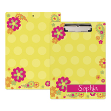 Flower Garden Personalized Clipboard