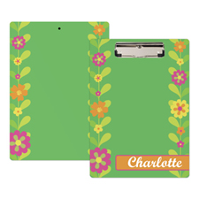 Cute Flower Personalized Clipboard