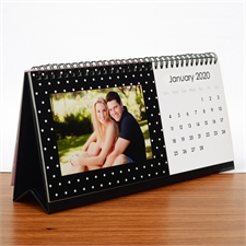 Red, Black & White Desk Calendar, 5