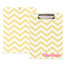 Gold Chevron Personalized Clipboard