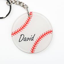 Baseball Personalized Round Acrylic Keychain
