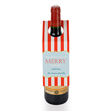 Merry and Bright Personalized Wine Tag, set of 6