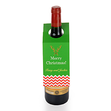 Reindeer Personalized Wine Tag, set of 6