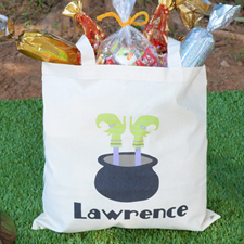 Witch Feet Personalized Halloween Trick Or Treat Bag