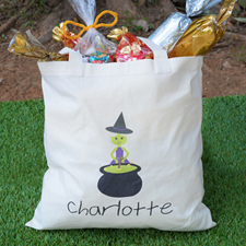 Witch Personalized Halloween Trick Or Treat Bag