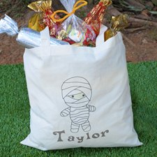 Mummy Personalized Halloween Trick Or Treat Bag