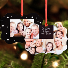 Amazing Year Personalized Metal Ornament, Black