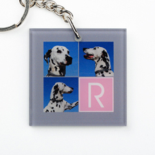 Instagram Collage Personalized Acrylic Square Keychain