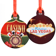 Personalized Mini Ornament Holiday Set Of 6 (Custom Front And Back)