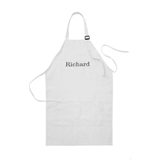 20 x 30 Personalized Embroidered Name Apron, White