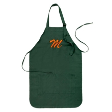 24 x 28 Personalized Embroidered Large Adult Apron, Forest