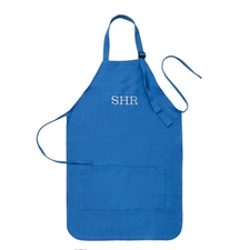 24 x 28 Personalized Embroidered Large Adult Apron, Blue