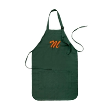 20 x 24 Custom Embroidered Adult Apron, Forest