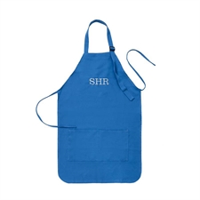 20 x 24 Custom Embroidered Adult Apron, Blue