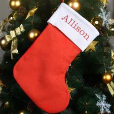 Embroidered Name Christmas Stocking