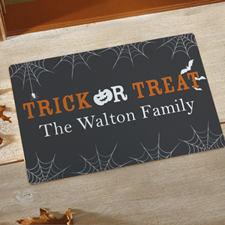 Trick Or Treat Personalized Doormat