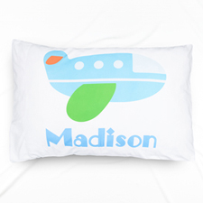 Airplane Personalized Name Pillowcase