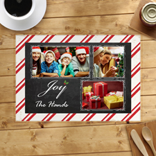 Joy Personalized Photo Placemat
