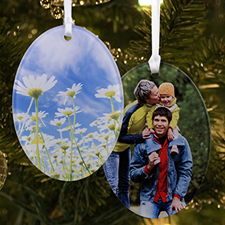 Custom Acrylic Ornament Oval Shape (2 Side)