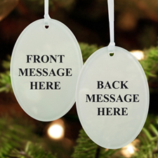 Custom Message Acrylic Ornament Oval Shape
