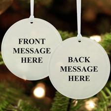 Custom Message Acrylic Ornament Round Shape