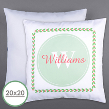 Holly Personalized Family Initial Large Pillow Cushion Cover 20