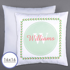 Holly Personalized Family Initial Pillow Cushion Cover 16