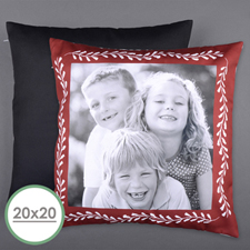 Red Frame Personalized Photo Large Pillow Cushion Cover 20