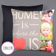 Home Is Love Personalized Photo Large Cushion 18