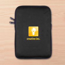 Custom Full Color Print Logo Ipad Mini Sleeve, Black