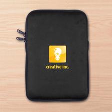 Custom Full Color Print Logo iPad Mini Sleeve, Black