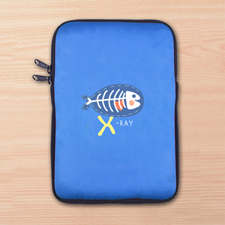 Custom Full Color Print Logo Ipad Mini Sleeve, Blue