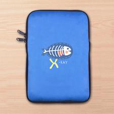 Custom Full Color Print Logo Ipad Mini Sleeve, Blue