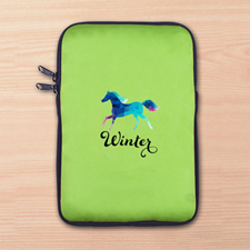Custom Full Color Print Logo Ipad Mini Sleeve, Lime Green
