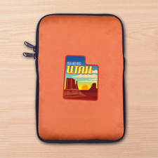 Custom Full Color Print Logo Ipad Mini Sleeve, Orange