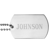 Personalized Name Engraved Dog Tag Pendant