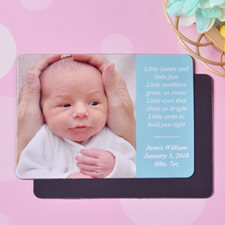 Personalized I Am A Boy Birth Announcement