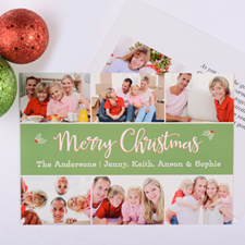 Holly Christmas Personalized Photo Card