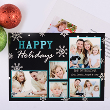 Marvelous Snowfall Personalized Photo Christmas Card