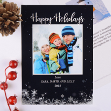 Frozen In Time Personalized Photo Christmas Card