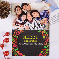 Merry Frame Personalized Photo Christmas Card