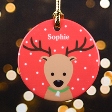Reindeer Personalized Christmas Ornament