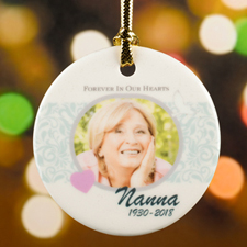 Memorial Personalized Photo Christmas Ornament